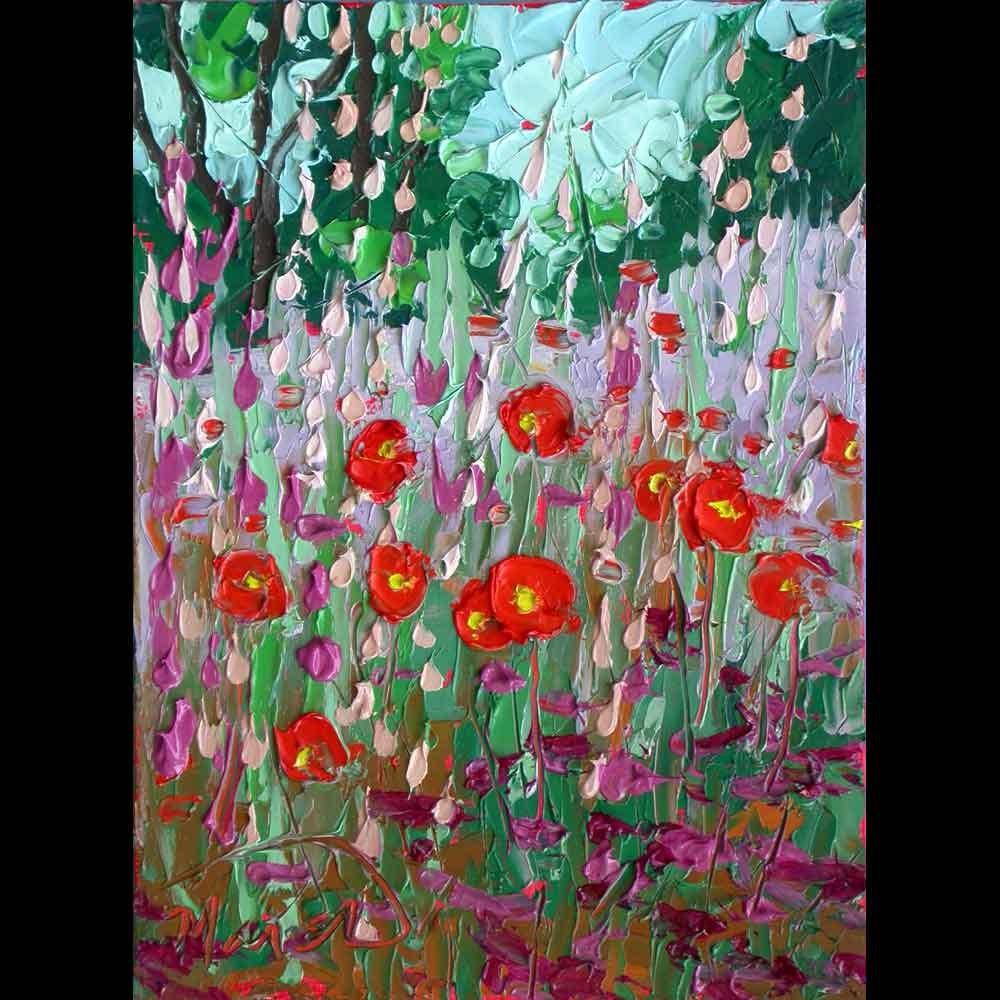 """072016 S 8x6 no2 Texas Poppies"" original fine art by Charlene Marsh"