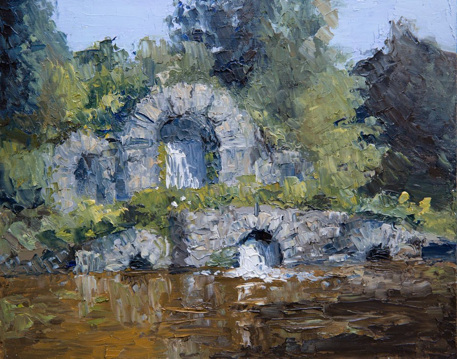 """Chiswick House Cascade"" original fine art by Jethro Knight"