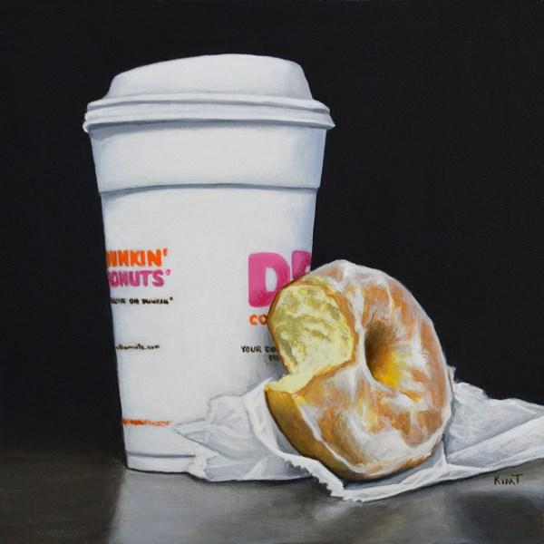"""""""Coffee and Donut Study"""" original fine art by Kim Testone"""