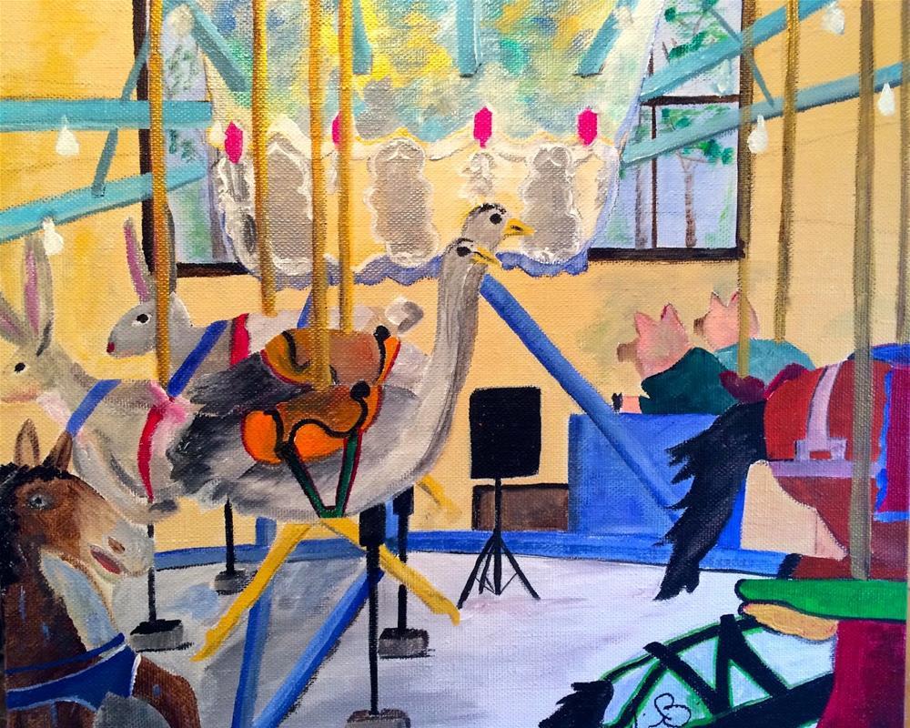"""Pullen Park Carousel"" original fine art by Kimberly Balentine"