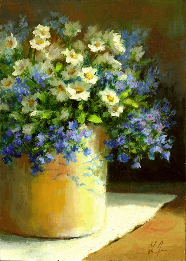 """Daisies"" original fine art by Linda Jacobus"