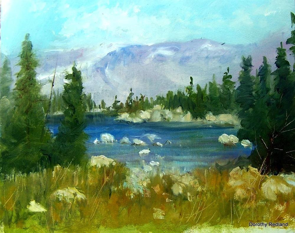 """In the high country"" original fine art by Dorothy Redland"