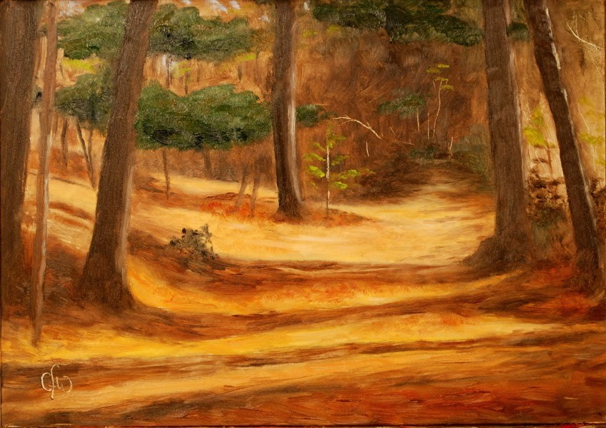 """On a Walk In the Woods"" original fine art by Gary Westlake"
