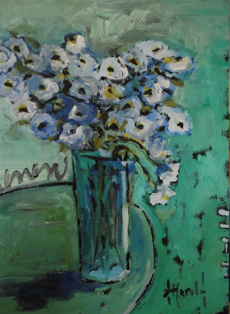 """Flowers for Vincent"" original fine art by Deborah Harold"