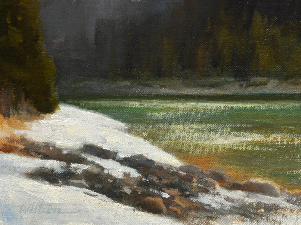 """Early Evening - the Bow River"" original fine art by Liz Wiltzen"