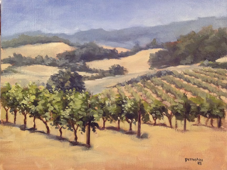 """Vinyard Challenge"" original fine art by Tom Pitman"