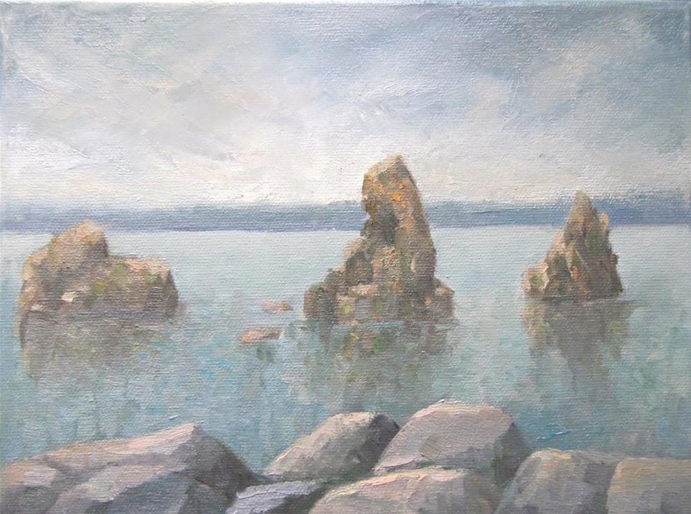 """""""Eiðisdrangar"""" original fine art by Steinunn Einarsdottir"""