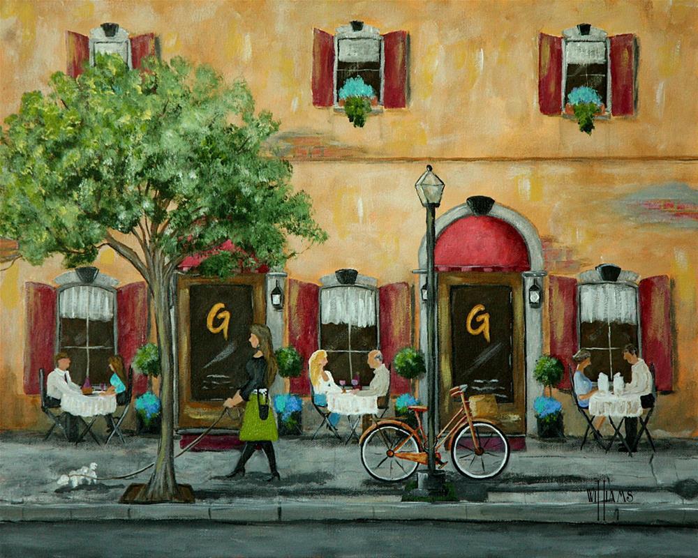 """""""Gino and Georgetti's"""" original fine art by Sunny Williams"""