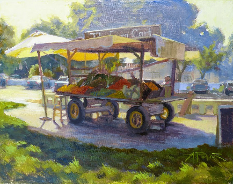 """The Farm Cart"" original fine art by Anette Power"