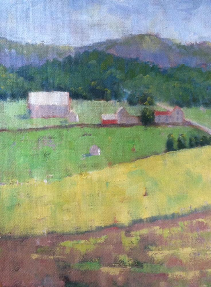 """View from the Church (toward Waynesboro)"" original fine art by Katharine March"