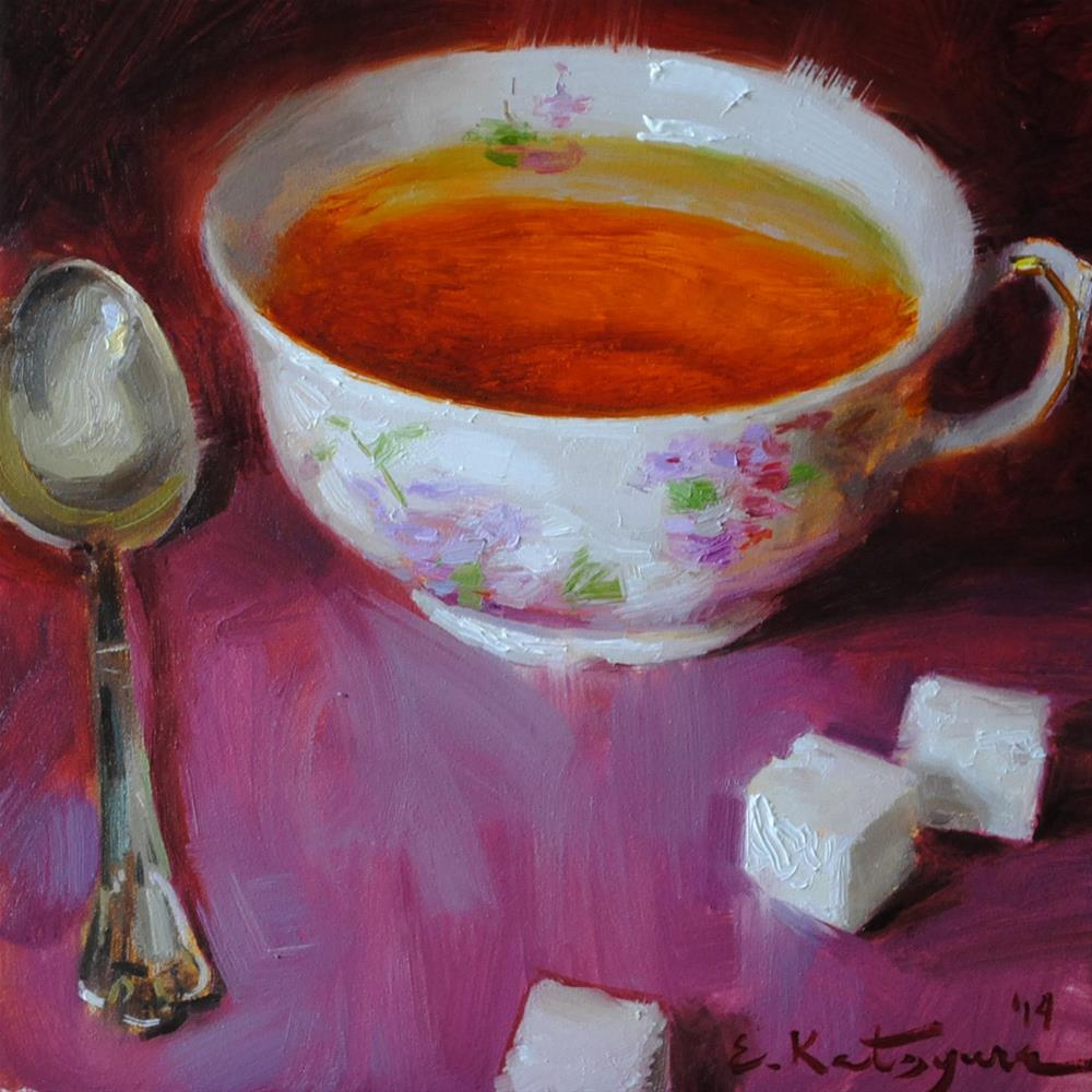 """More Sugar?"" original fine art by Elena Katsyura"