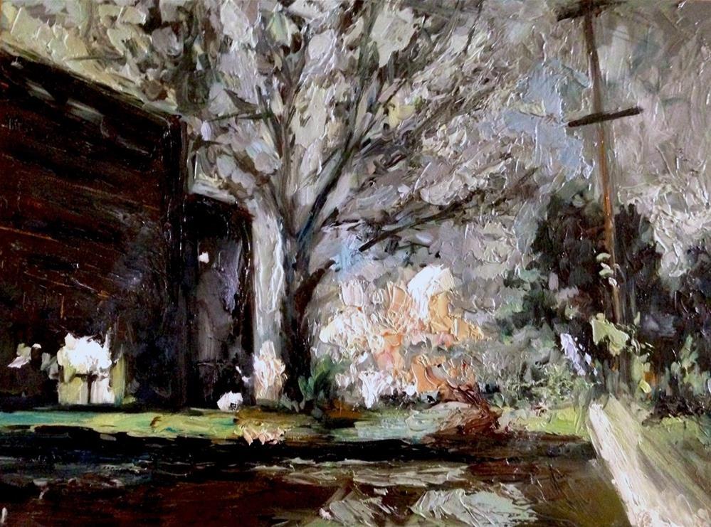 """Tulsa at night"" original fine art by Devin Howell"
