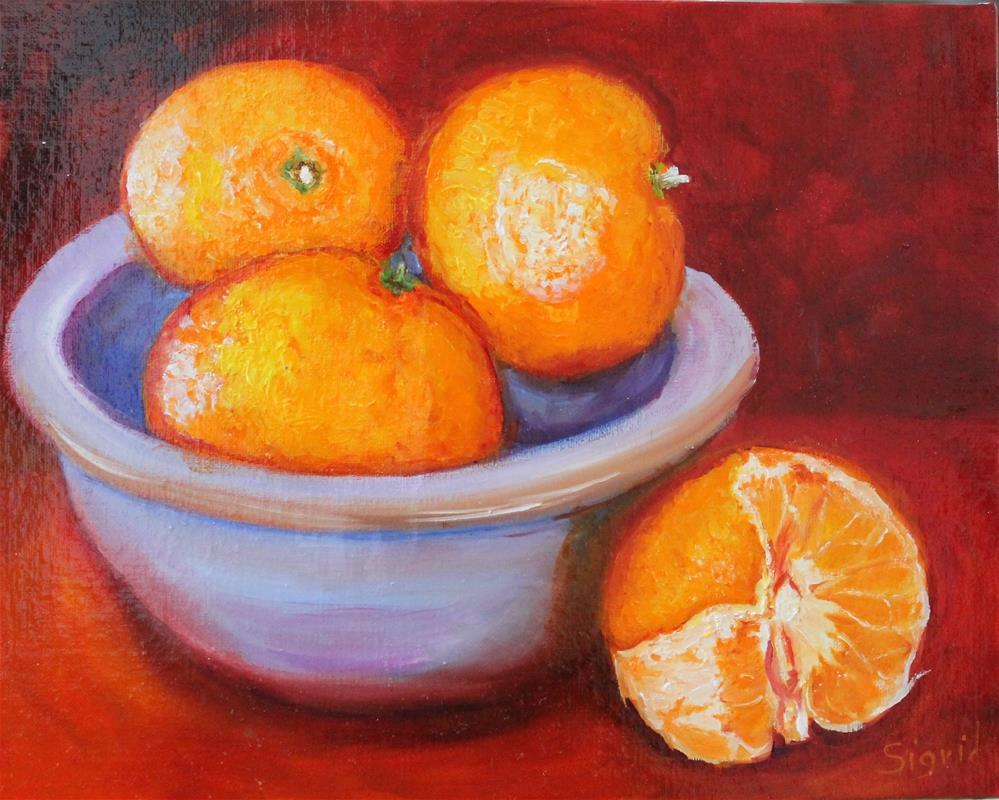 """Oranges, Oranges"" original fine art by Sigrid Victor"