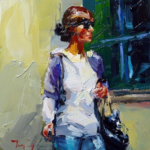 """on the way"" original fine art by Jurij Frey"