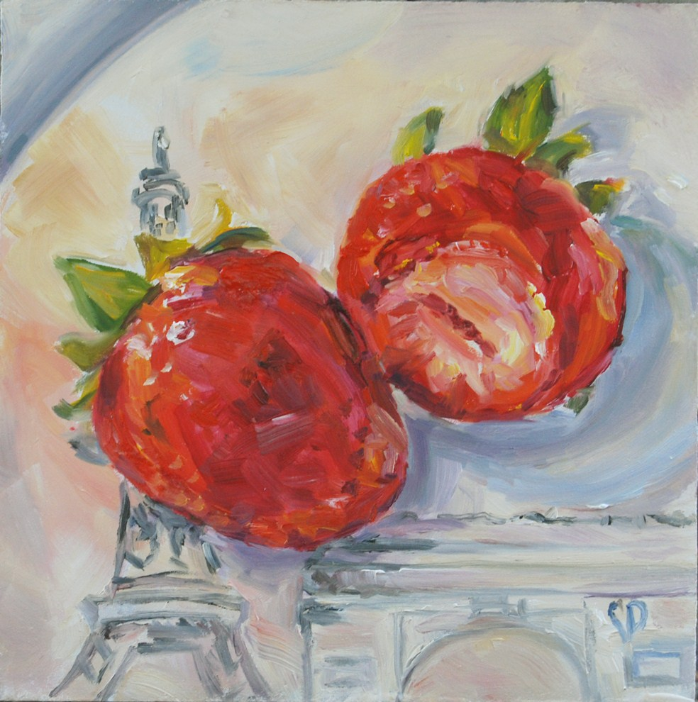 """Paris Treat"" original fine art by Carol DeMumbrum"