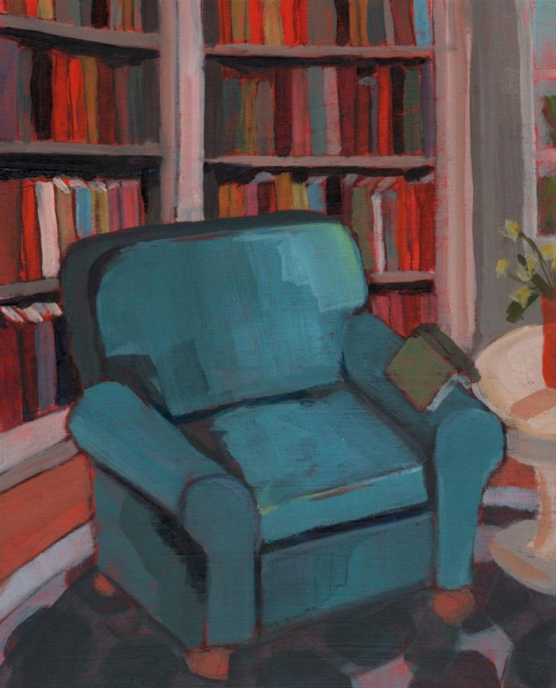 """Reading Nook (#366)"" original fine art by Debbie Miller"