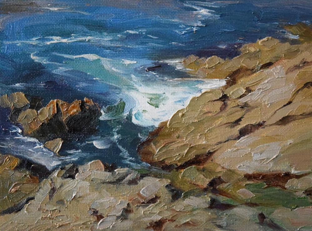 """A Corner of Lobos State Reserve"" original fine art by Kelvin Lei"