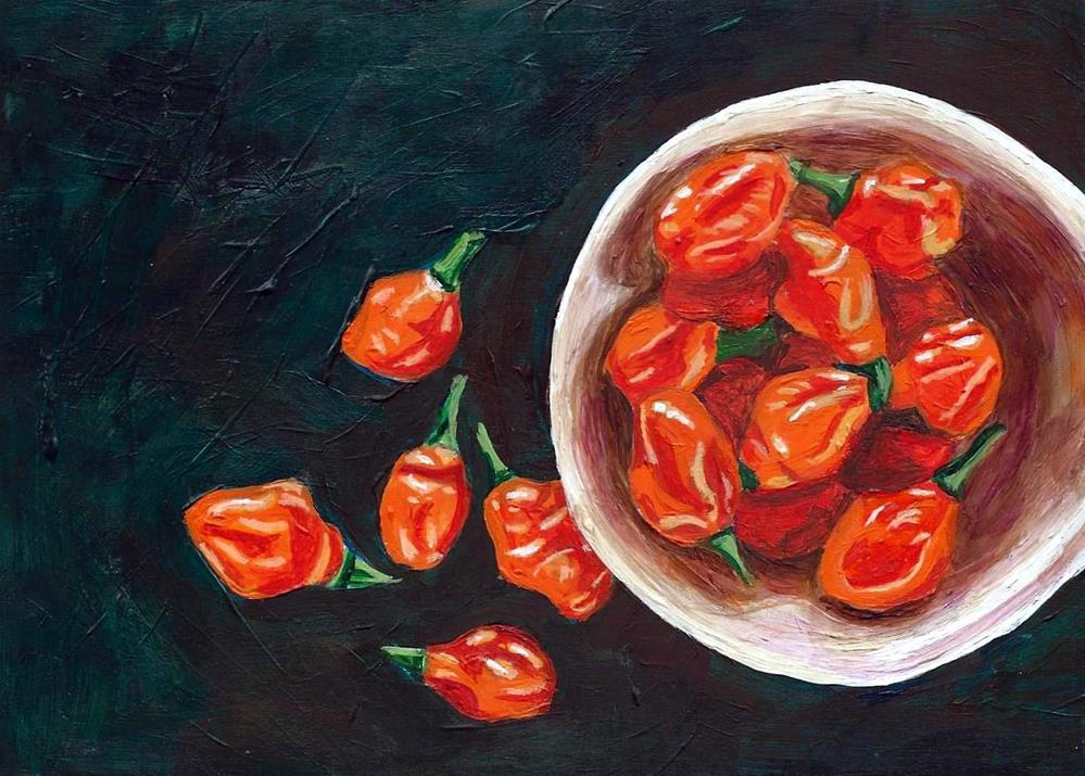 """Habanero Harvest"" original fine art by Lisa Wiertel"