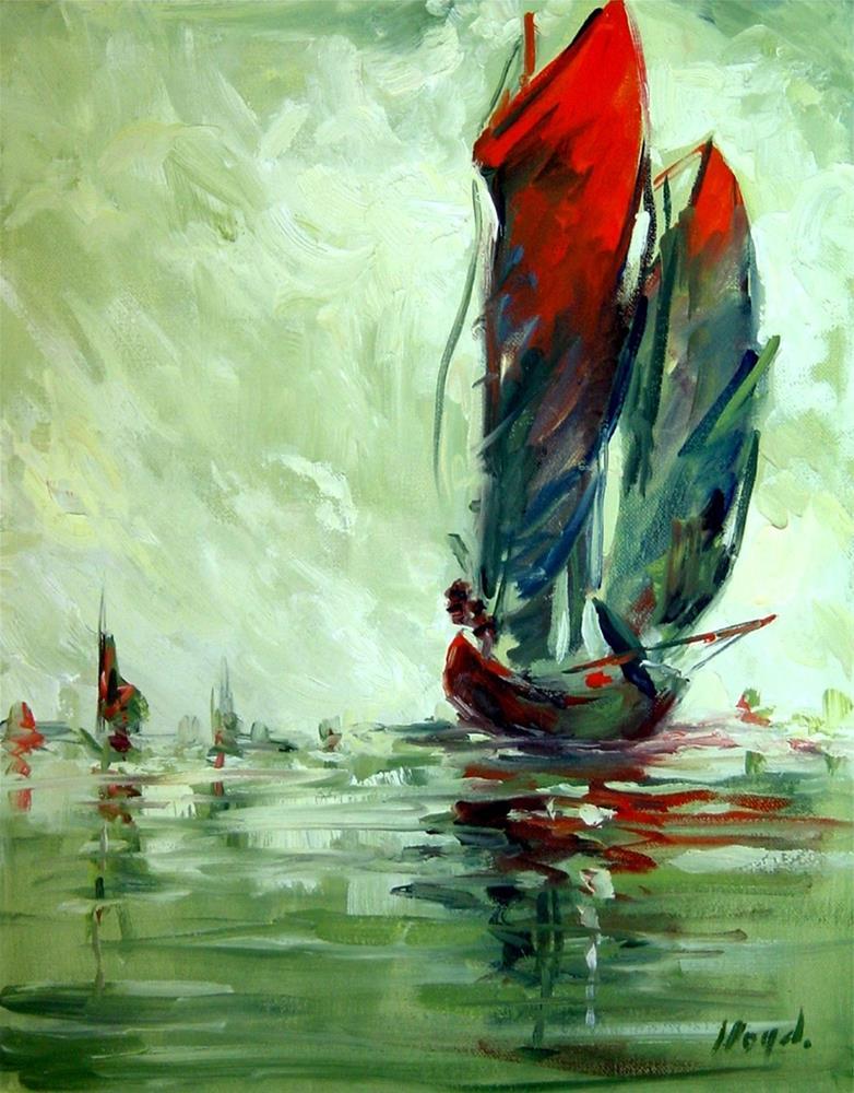 """""""Sailing"""" original fine art by Diane Lloyd"""