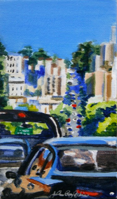 """Headed Towards the Marina, mini version"" original fine art by JoAnne Perez Robinson"