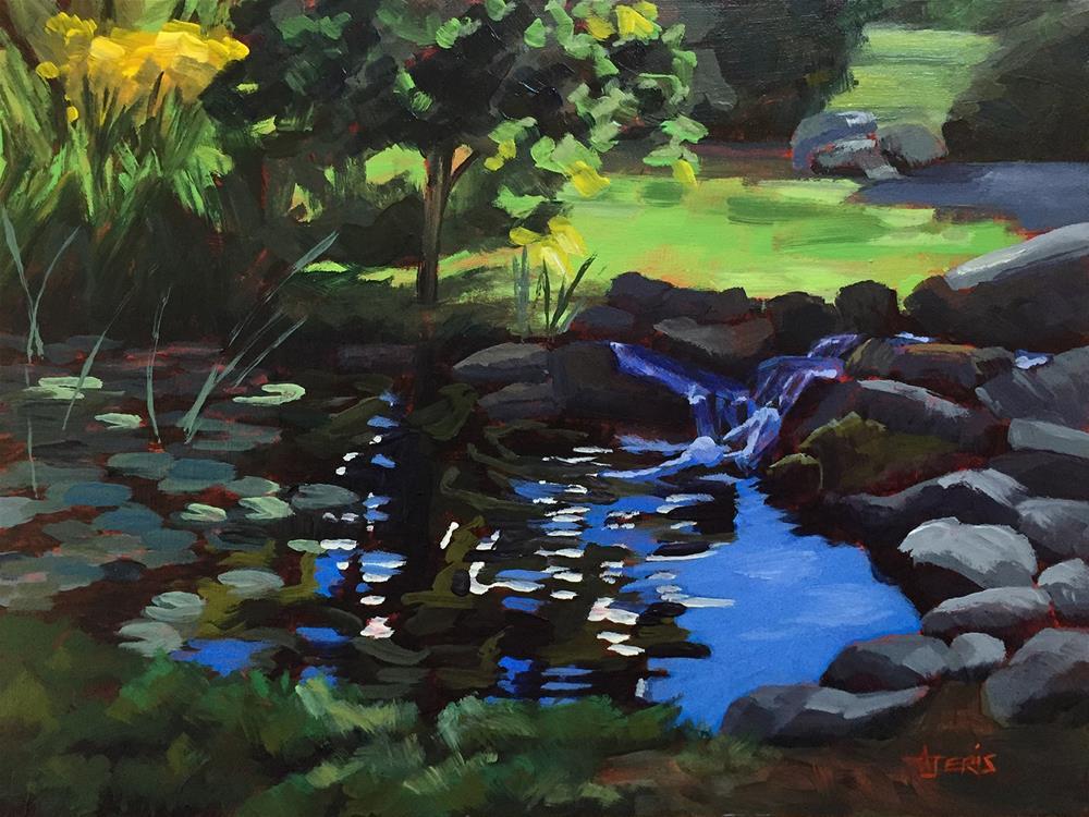 """Lily Pond"" original fine art by Andrea Jeris"