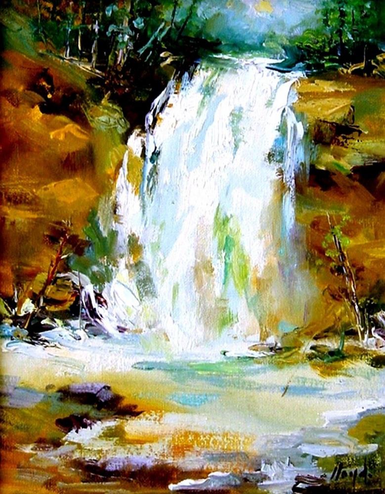 """Waterfall at Zion National Park"" original fine art by Diane Lloyd"