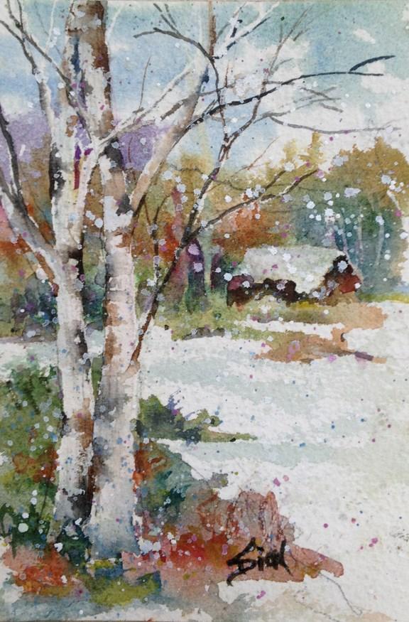 """""""When I Get Home"""" original fine art by Sue Dion"""