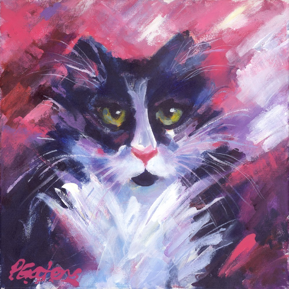 """Mr. Tux"" original fine art by Pamela Gatens"