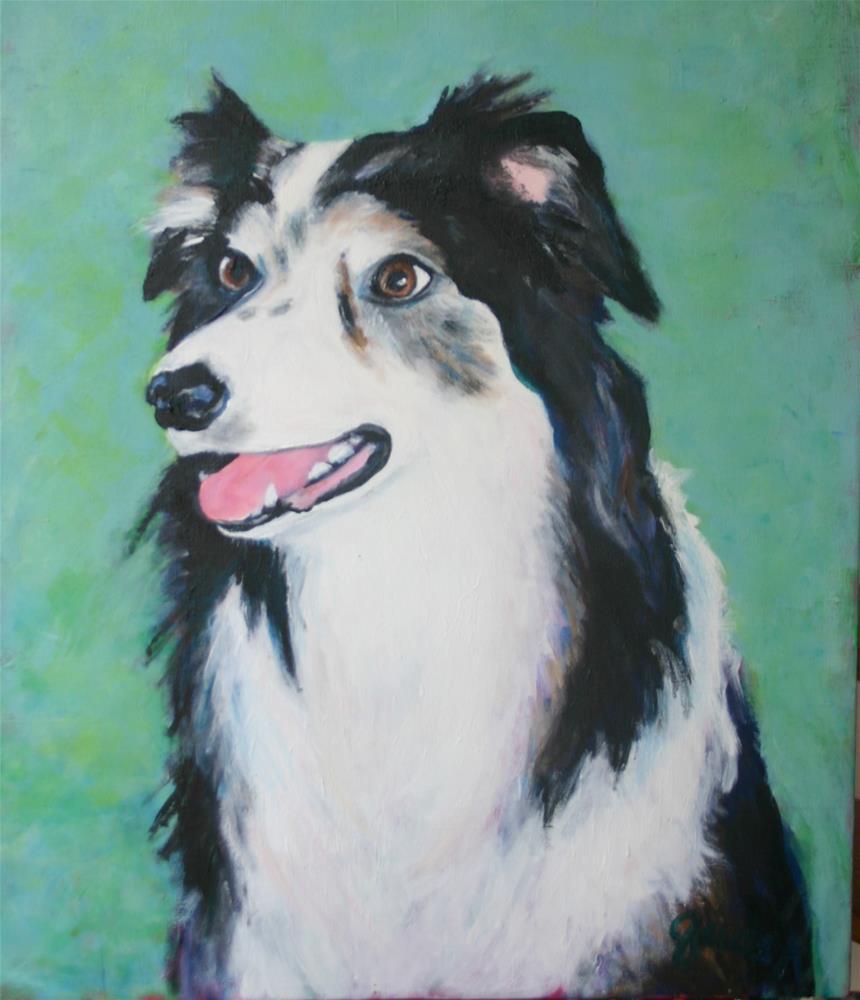 """Chelsea - Commissioned portrait "" original fine art by barbara quast"