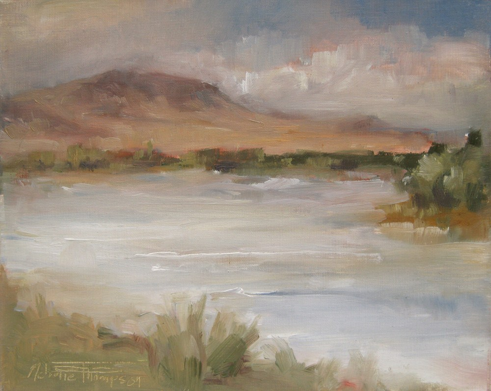 """Around the Bend - Plein air oil painting"" original fine art by Melanie Thompson"