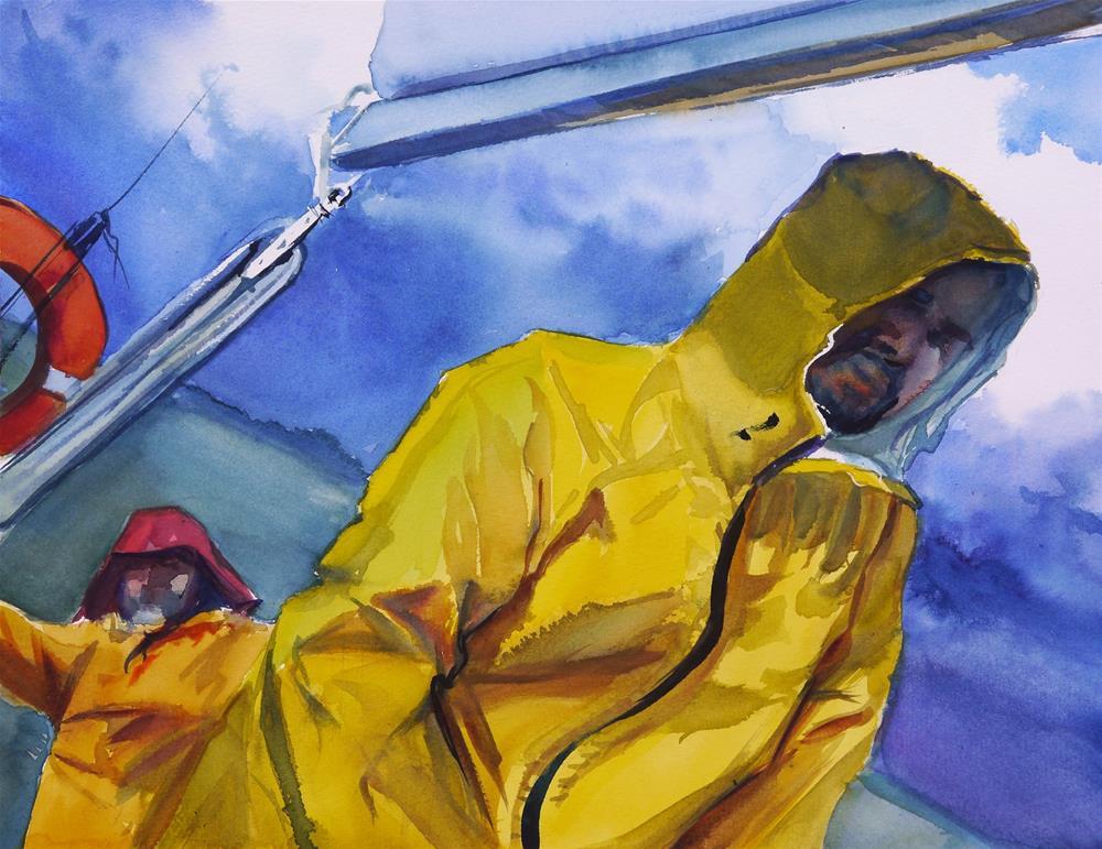 """sailing in a storm"" original fine art by Beata Musial-Tomaszewska"