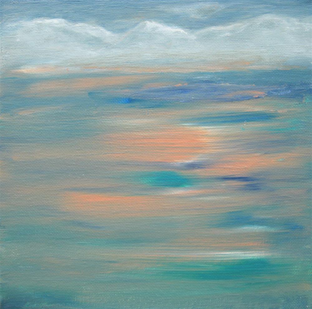 """Seashore Mountains"" original fine art by Alina Frent"