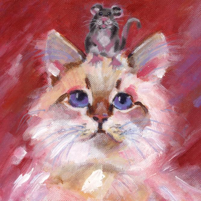 """Be Nice to the Mice"" original fine art by Pamela Gatens"