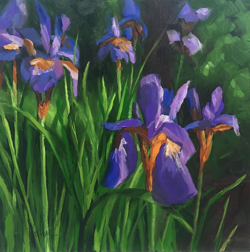 """Japanese Irises"" original fine art by Hallie Kohn"
