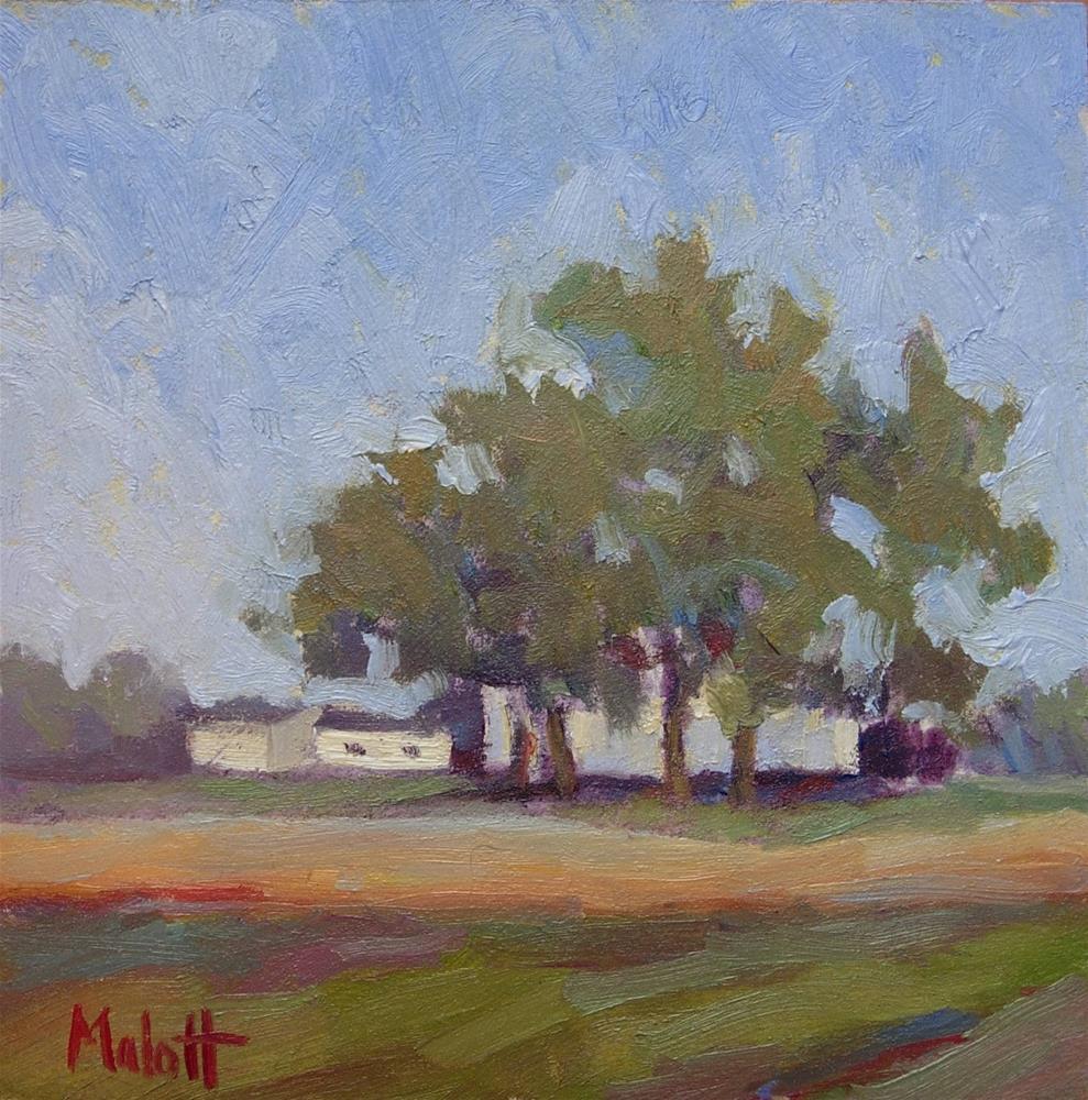 """Happy Independence Day American Landscape"" original fine art by Heidi Malott"