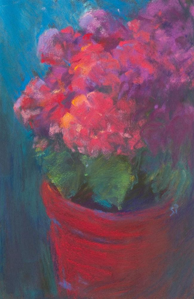 """Summer Zinnias"" original fine art by Sarah Peroutka"