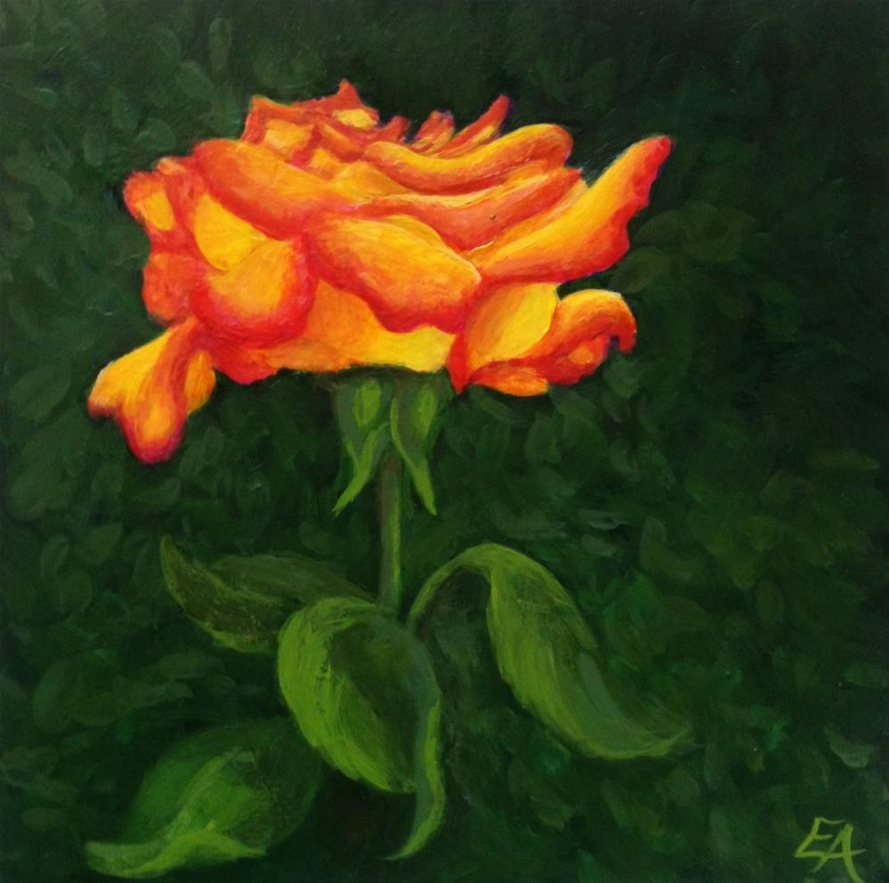 """Terry's Rose"" original fine art by Elizabeth Elgin"