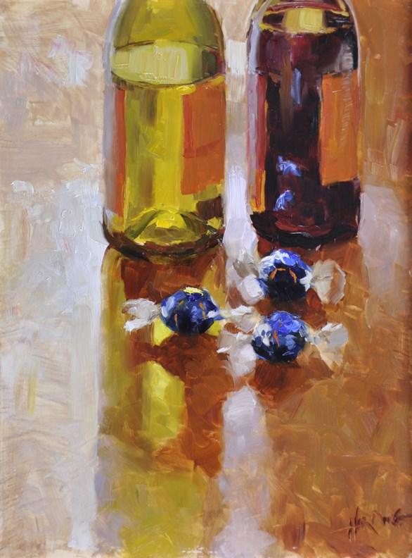 """Chocolates and Wine"" original fine art by Scott Harding"