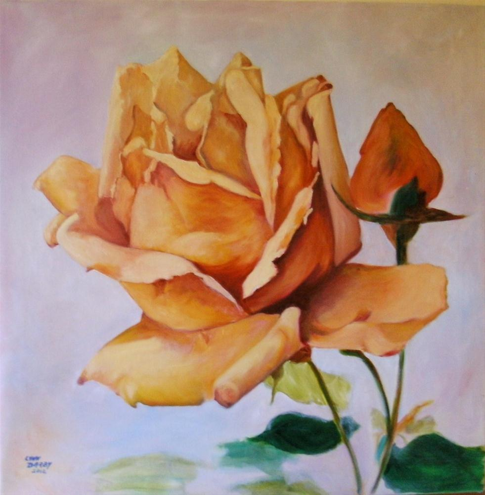 """Yellow Rose"" original fine art by Lynn Darby"