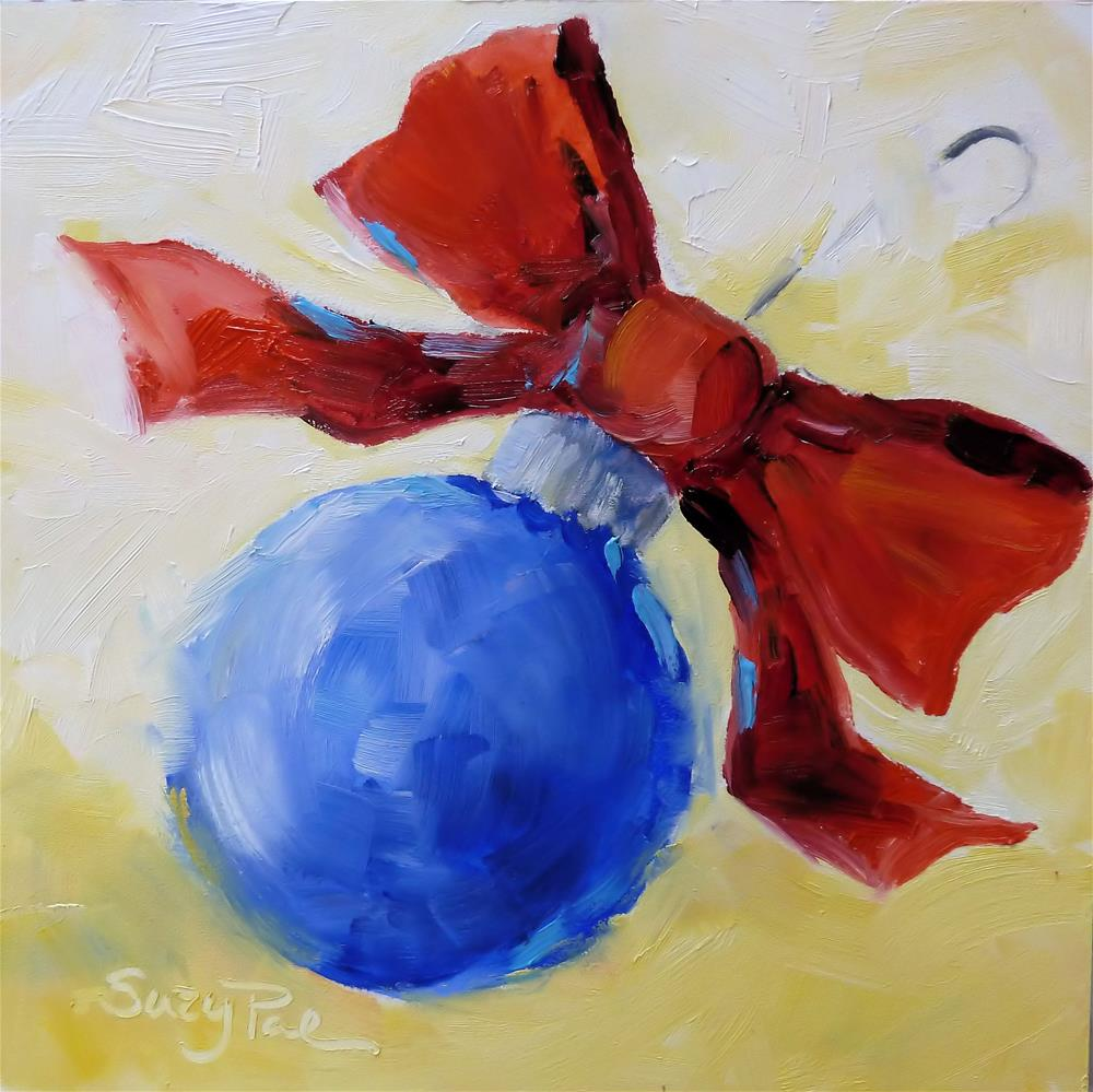 """Blue Christmas Ornament"" original fine art by Suzy 'Pal' Powell"