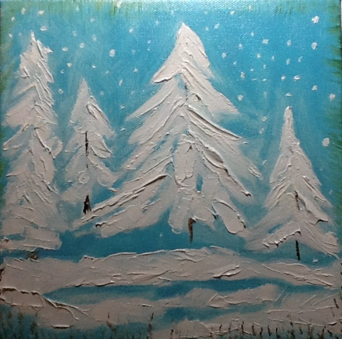 """SILENT NIGHT"" original fine art by Charlotte Bankhead Hedrick"