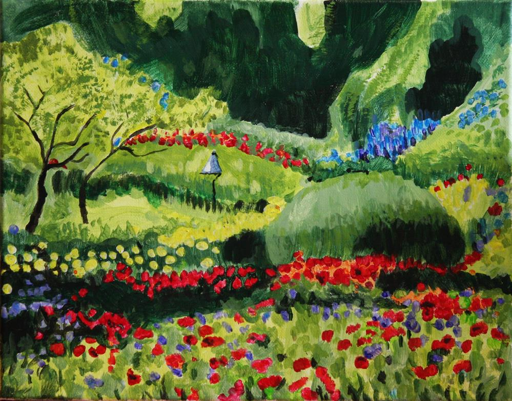 """Butchart Gardens 1"" original fine art by Terri-Anne Barge"