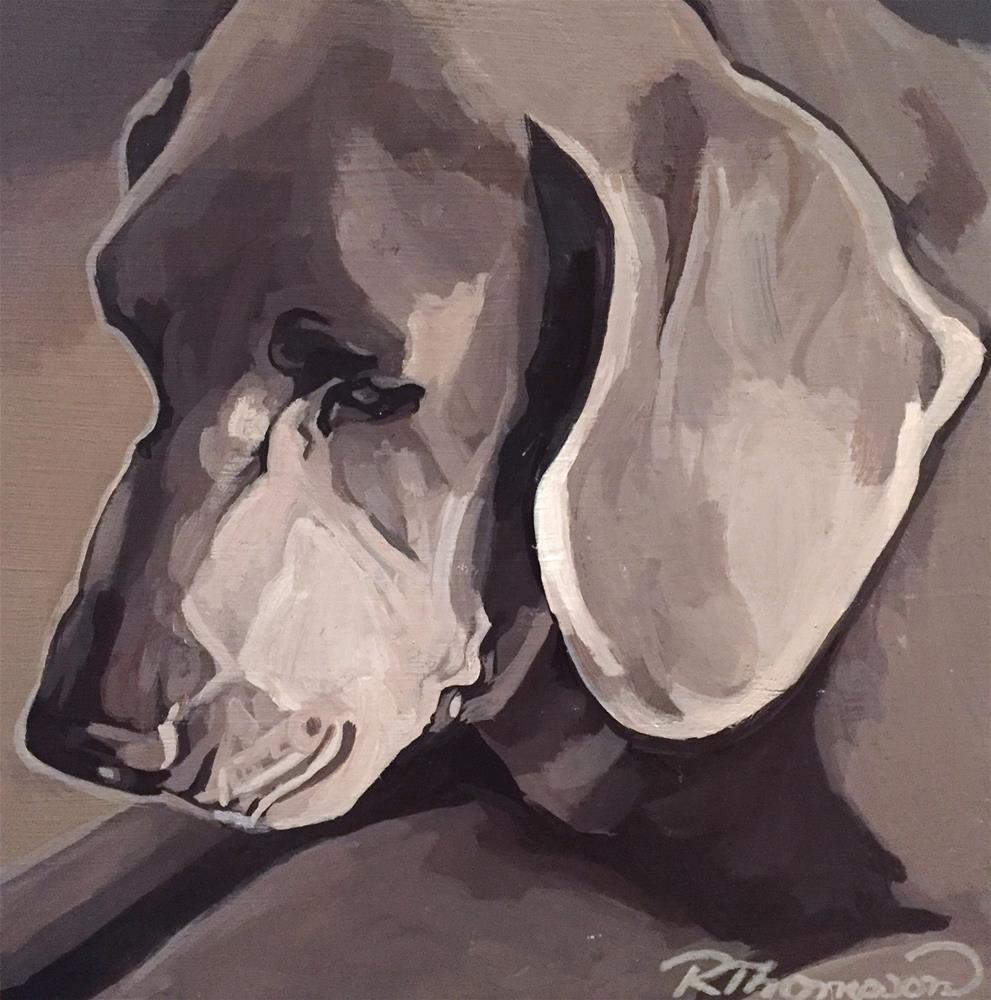 """Winston #1"" original fine art by Rachel Thompson"