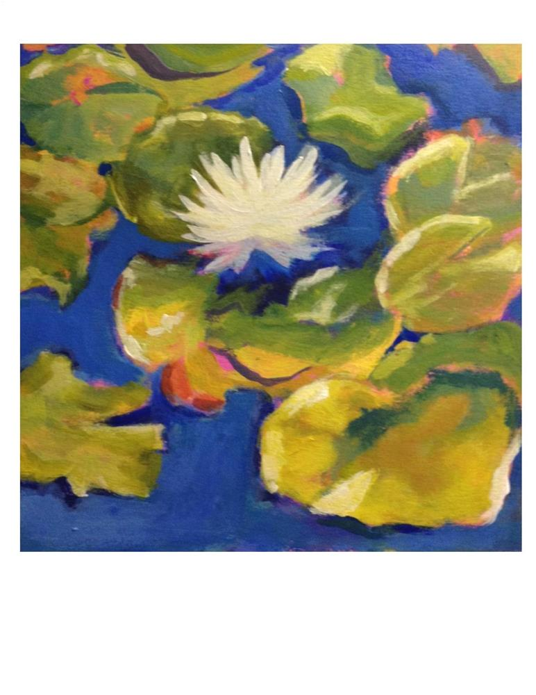 """Lily Pads"" original fine art by Suzanne Woodward"