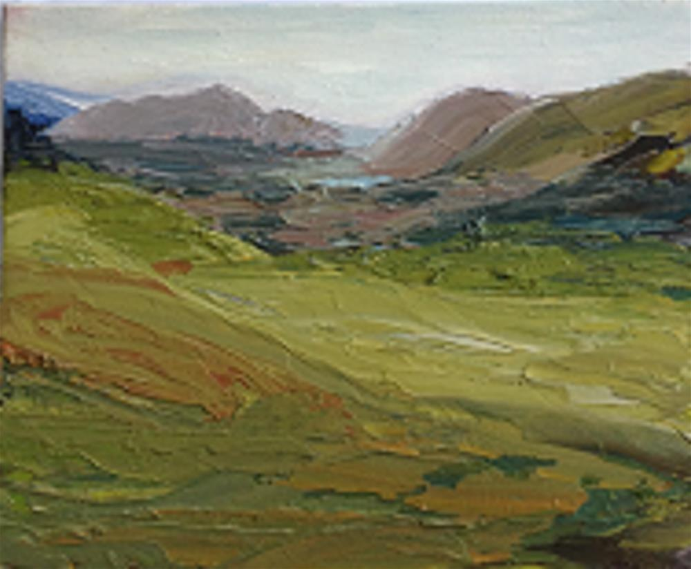 """""""LADY'S VIEW, COUNTY KERRY"""" original fine art by Marie O' Higgins"""