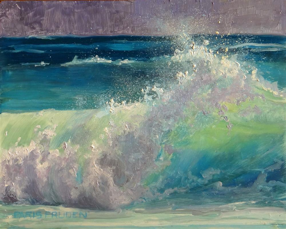 """Wave, A Force of Nature"" original fine art by Nancy Paris Pruden"