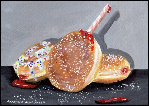 """""""Sip a Jelly Donut"""" original fine art by Patricia Ann Rizzo"""