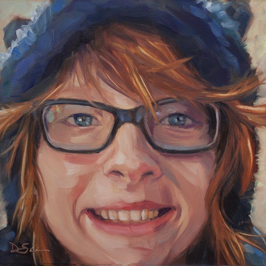 """""""Eyes of Love No.24 Elizabeth"""" original fine art by Deborah Savo"""
