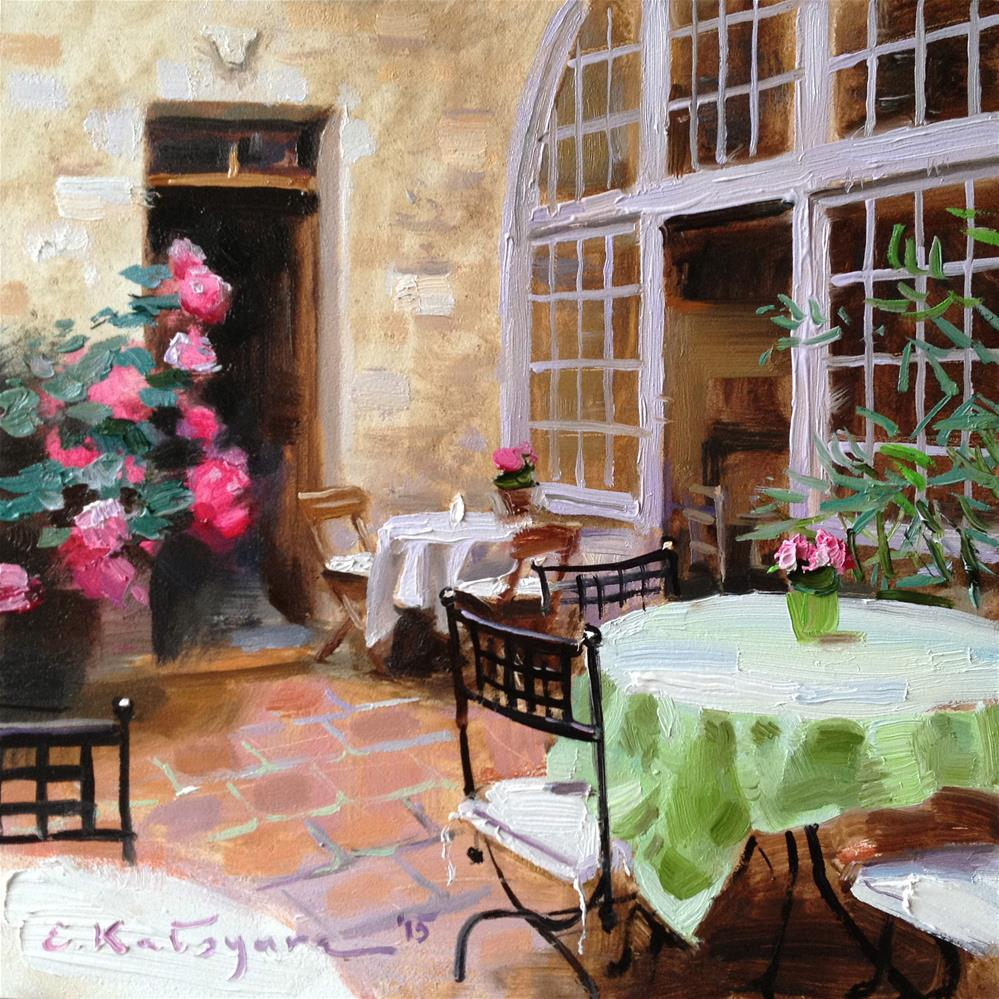 """Rose Patio"" original fine art by Elena Katsyura"