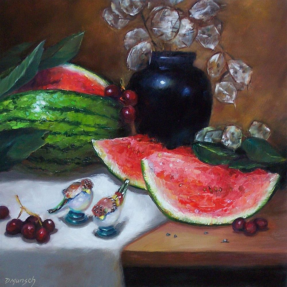 """Watermelon and Shakers"" original fine art by Donna Munsch"